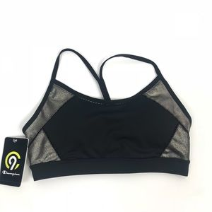 Champion Black & Metallic NWT Sports Bra